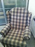 Vendo sillón orejero tapizado en tela