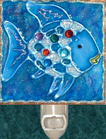 blue rainbow sparkles fish