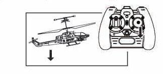 Движение радиуправляемого вертолета назад