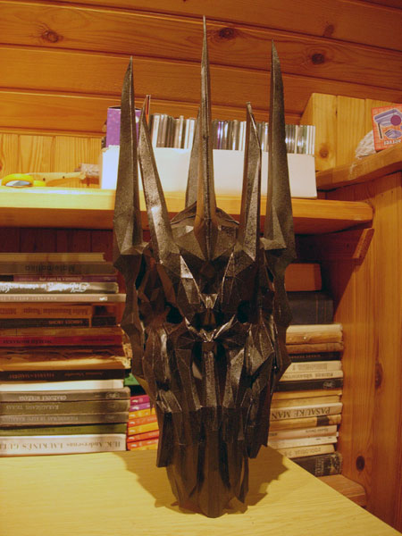 Lord of the Rings Sauron Papercraft Head