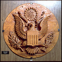 The Great Seal of the United States, bugged by Soviets using Theremin's invention