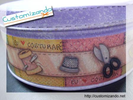 Como customizar lata de bombom sonho de valsa - Customizando.net