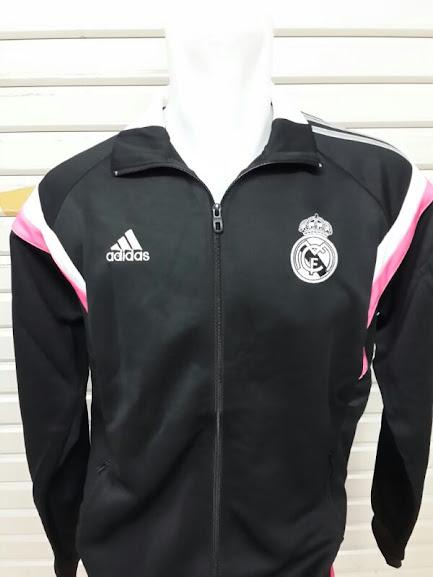 Jaket Real Madrid Hitam List Putih Terbaru 2014