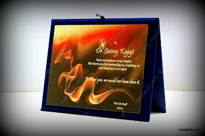 Absi Satin Printed Plaque