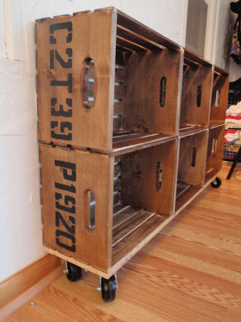 "DIY Vintage Crate Shelving Unit and ""C2T39"""