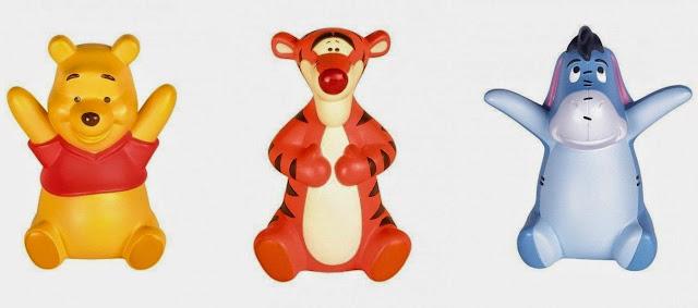 Bộ 3 con thú Gấu Pooh, Tiger và Eyeore là những người bạn thân thiết