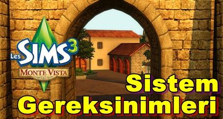 Sims 3: Monte Vista PC Sistem Gereksinimleri