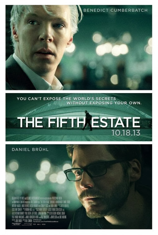 Poster Of English Movie The Fifth Estate (2013) Free Download Full New Hollywood Movie Watch Online At alldownloads4u.com