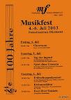 Plakat Musikfest 2003