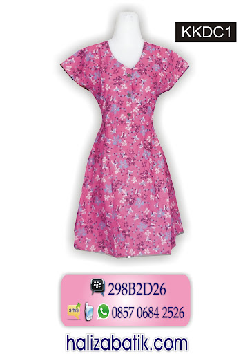 KKDC1 Model Dress, Model Batik Dress, Baju Batik, KKDC1