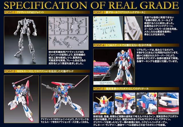 Mô hình Zeta Gundam RG 1/144 sống động thực sự đẳng cấp