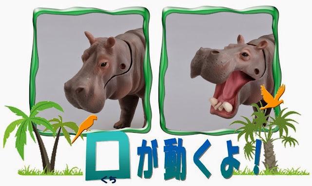 Con Hà mã Ania AS-06 Takara Tomy có thể mở rộng miệng