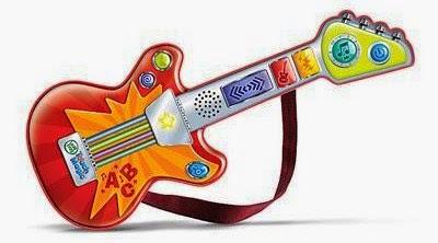 Đàn guitar cảm ứng màu đỏ thật phù hợp cho bé trai