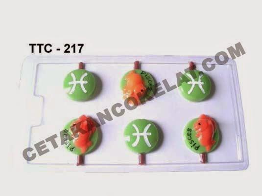 Cetakan Coklat TTC217 Zodiac Pisces