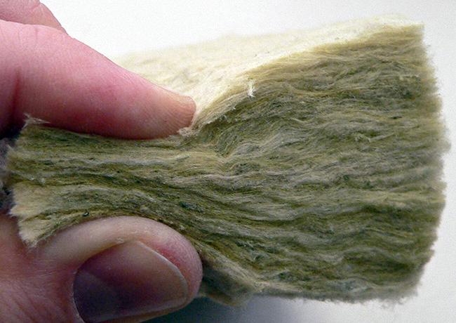 Detalle de lana de roca