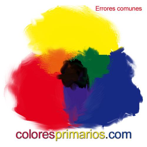 Colores primarios pigmento y errores comunes