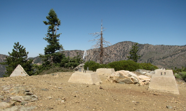 the foundation of an old fire lookout