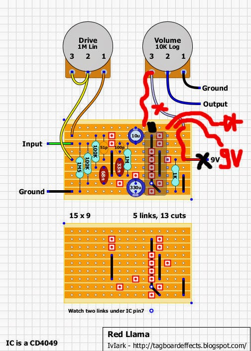Guitar FX Layouts Offboard wiring – Distortion Plus Wiring Diagram Off-board