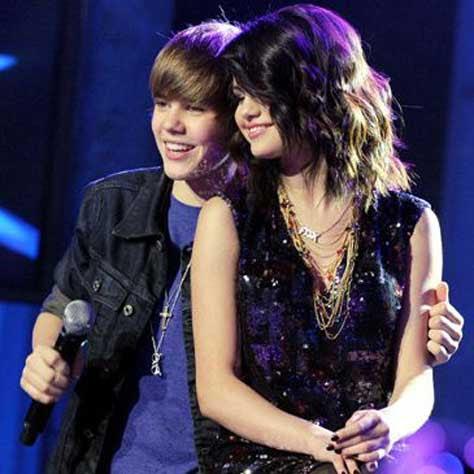 Justin Bieber con Selena Gomez