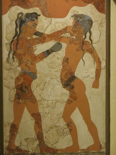 Boxeadores de Akrotiria en Santorini (Thera)