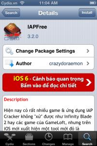 tìm iApFree tải về và cài đặt