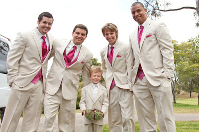 Groomsmen and Ring Barer