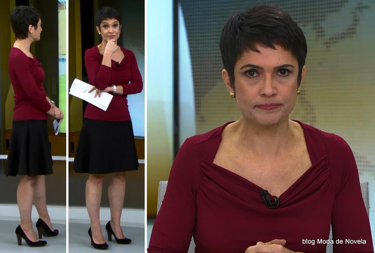 moda do programa Jornal Hoje - look da Sandra Annenberg dia 25 de junho