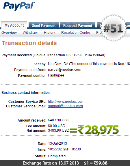 Neobux Payment Proof 51