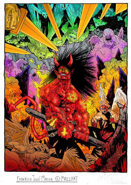 Mis ilustraciones DC Marvel 2000AD y otros!