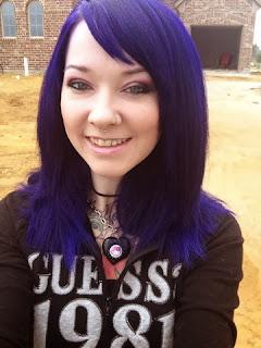 Mature purple hair outside