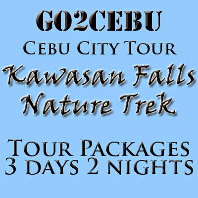 Cebu City + Kawasan Falls Nature Trek in Cebu Tour Itinerary 3 Days 2 Nights Package