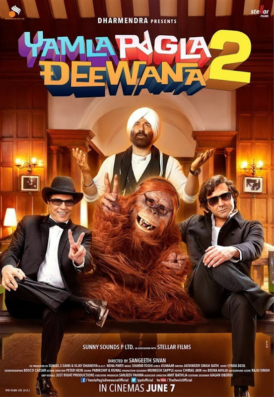 Poster Of Hindi Movie Yamla Pagla Deewana 2 (2013) Free Download Full New Hindi Movie Watch Online At Alldownloads4u.Com