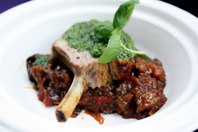 Lamb dish at Taste of London in Regent's Park