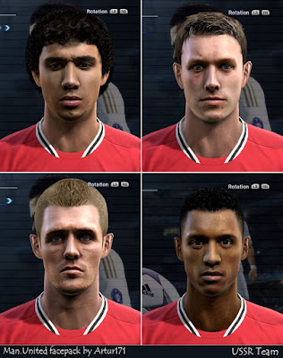 Preview%252520%2525281%252529 PES 2012: Face de Fabio, Fletcher, Jones e Nani – Manchester United