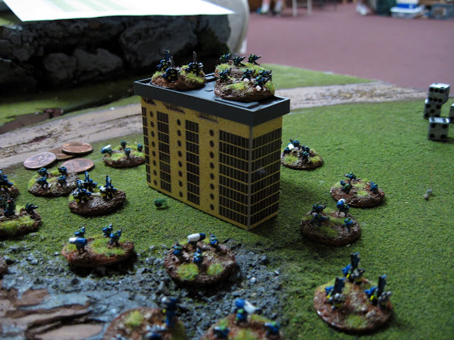 Karl's Orks occupy a nearby city.