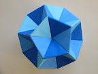 "Dodecahedron from Double Equilateral Triangles - Triangular Windows from Tomoko Fuse's Book: ""Unit Origami"", 1990."