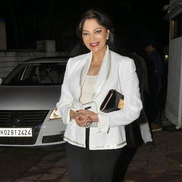 Simi Garewal attends the wrap-party of Bollywood movie Mary Kom, held at Sanjay Leela Bhansali's residence on July 26, 2014.(Pic: Viral Bhayani)