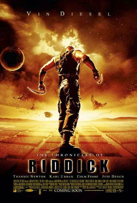 Poster Of English Movie The Chronicles of Riddick (2004) Free Download Full New Hollywood Movie Watch Online At alldownloads4u.com