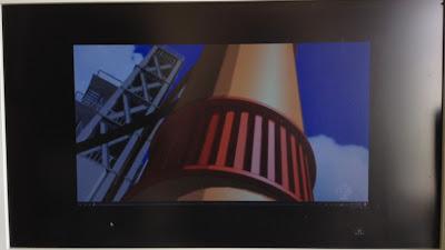 AppleTVにバンダイチャンネルを表示。全画面表示でも天地左右に黒帯ができてしまう