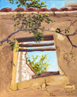"""""""Fenster eines zerfallenen Hauses 1"""" 30x24cm Öl auf Leinwand"""