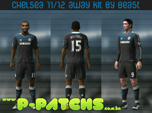 Chelsea 11-12 Away Kit para PES 2011 PES 2011 download P-Patchs