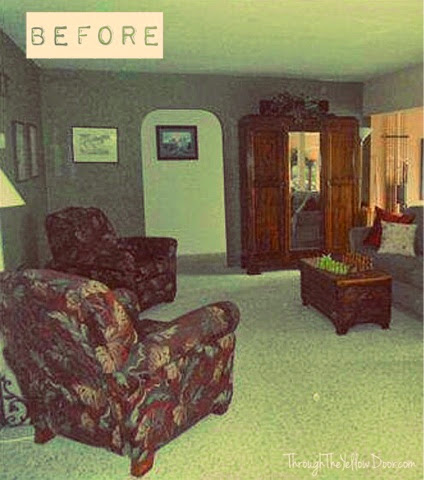 Family/Living Room Makeover: Before And After