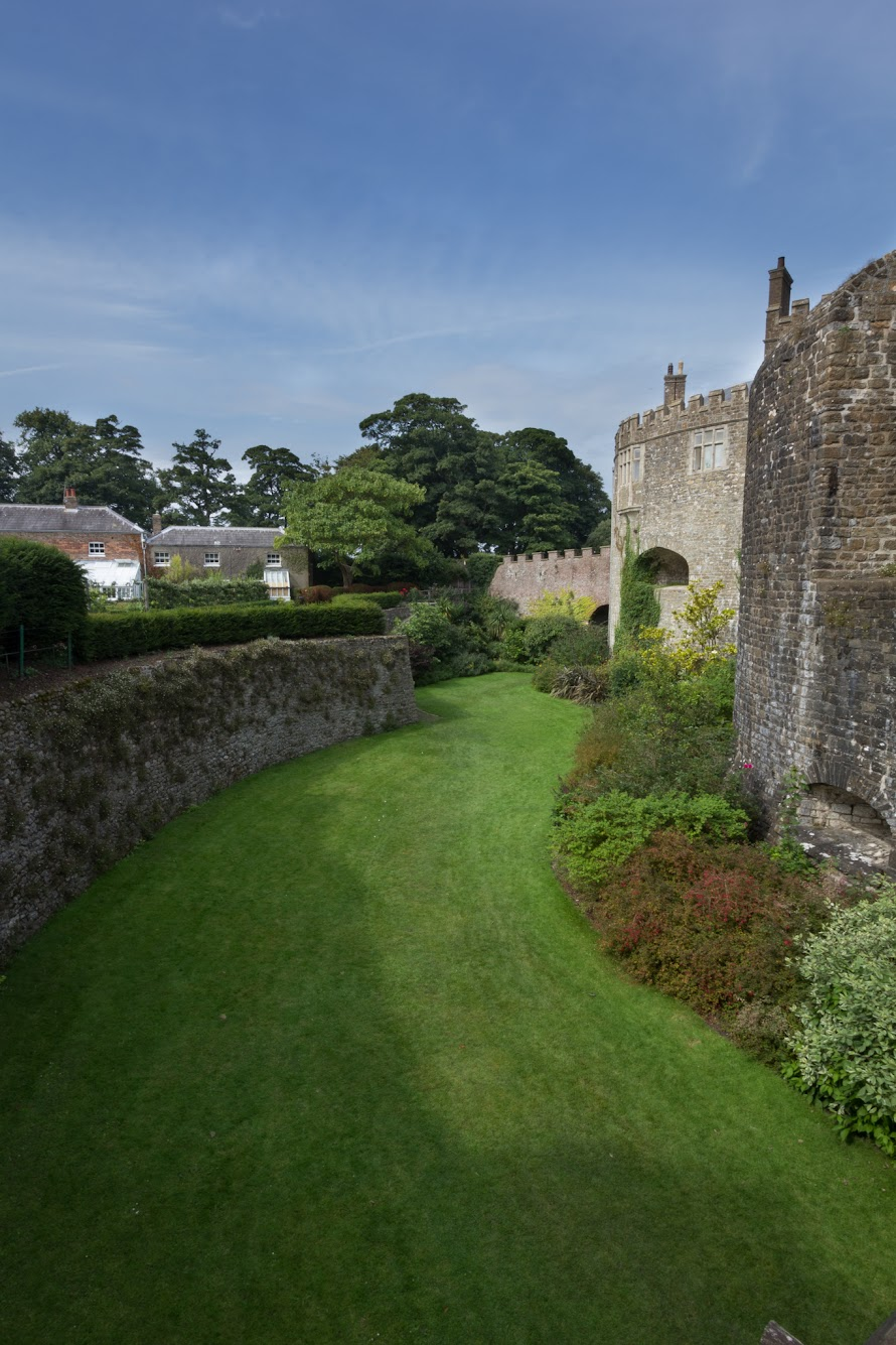 The moat of Walmer Castle