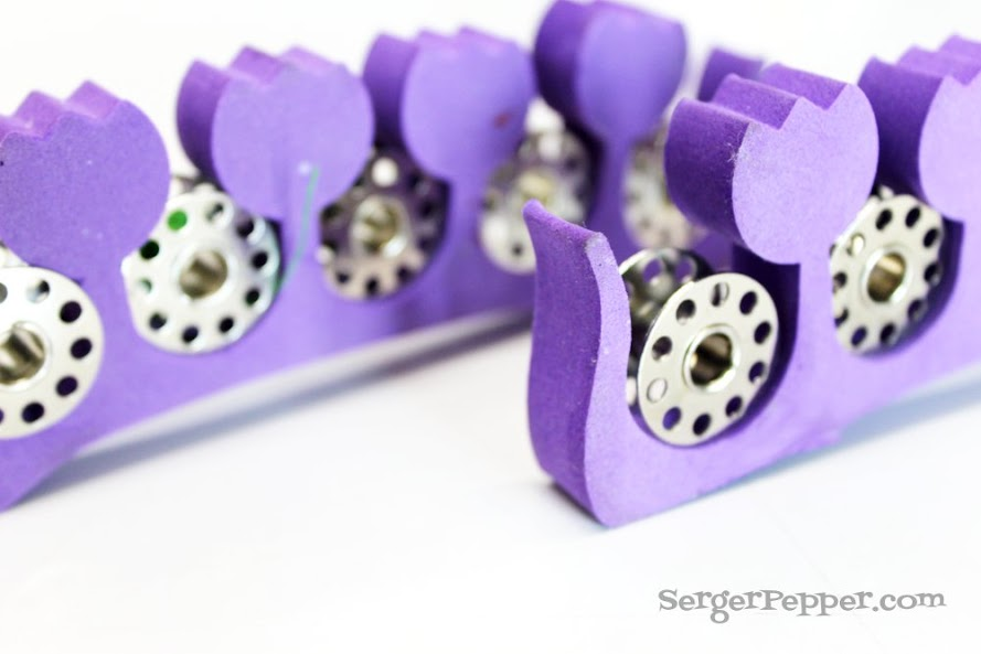 Slizzin' Summer series - Organize Your Sewing Room Low-Budget - Serger Pepper - thread bobbins 2