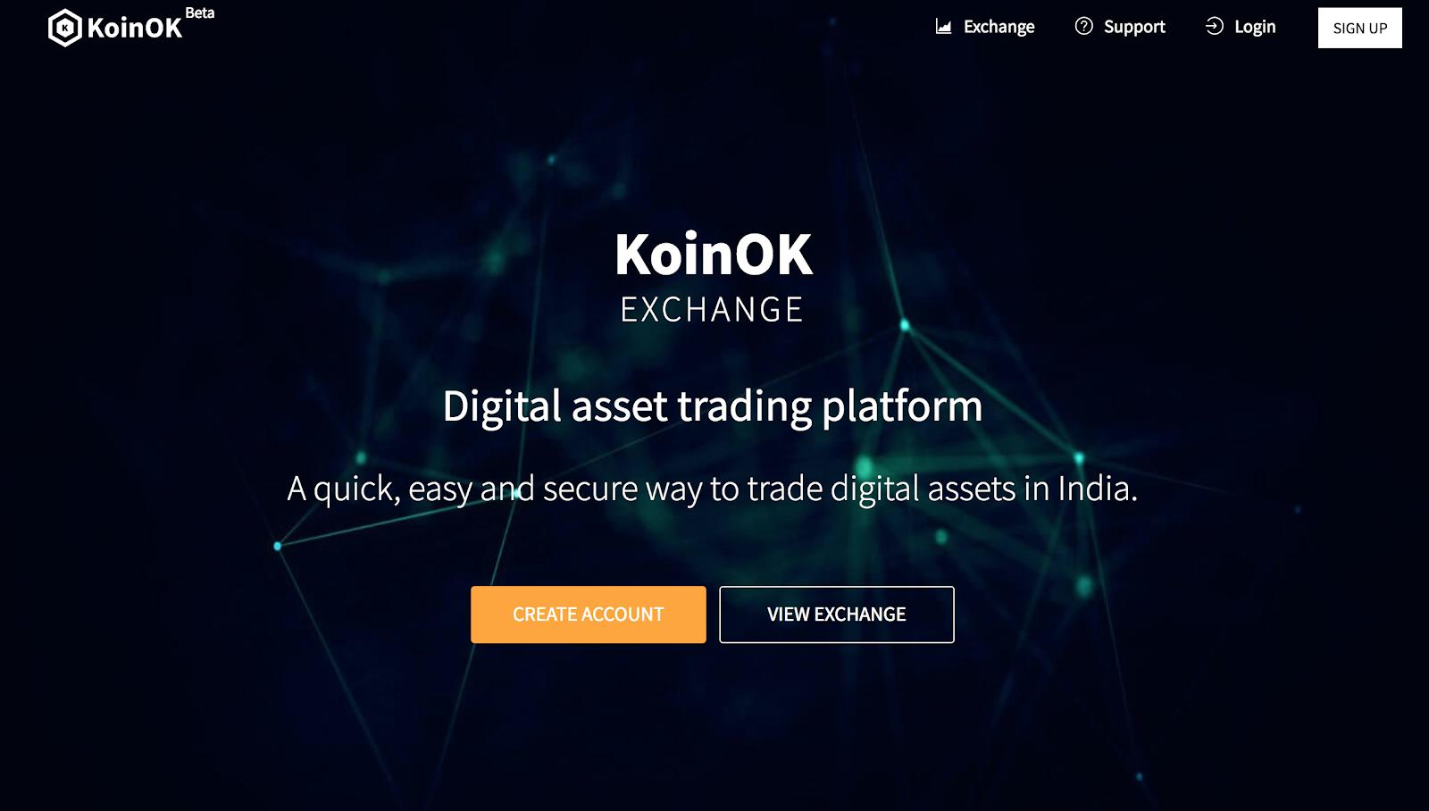 KoinOK - Cryptocurrency Exchange