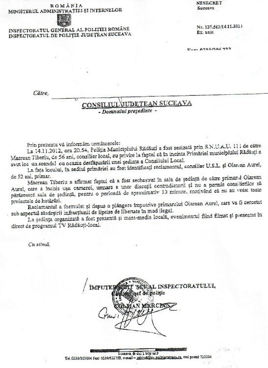 Primarul Aurel Olărean este cercetat penal pentru lipsire de libertate în mod ilegal