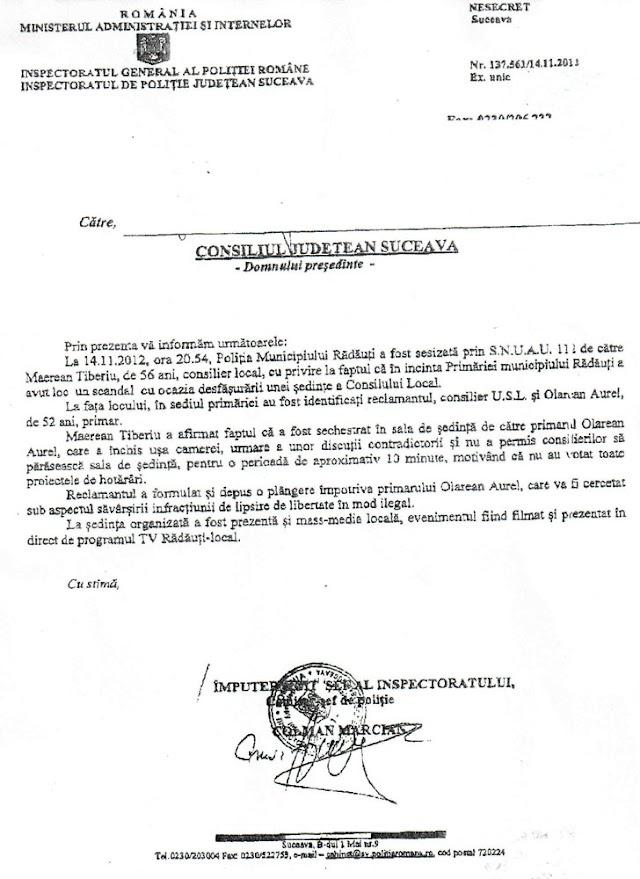 Primarul Aurel Olărean este cercetat penal pentru sechestrare de persoane
