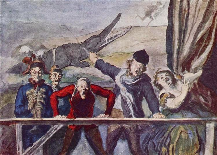 Honoré Daumier - The carnival parade