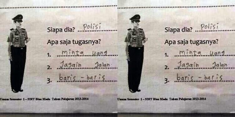 gambar lucu polisi