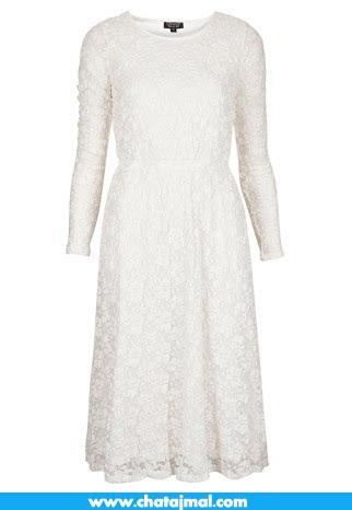 صور فساتين دانتيل كم طويل – الفساتين الدانتيل طويلة الكم احدث موديلات 2013